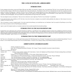 Caves of Scotland Bibliography