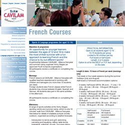 Sports & Language programme (for aged 12-16) - CAVILAM