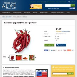 Cayenne pepper 90K HU - powder - More Than Alive