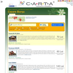 Cazare Borșa - 22 oferte de cazare în pensiuni, hoteluri, vile