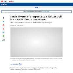 Sarah Silverman's response to a troll is a masterclass in compassion