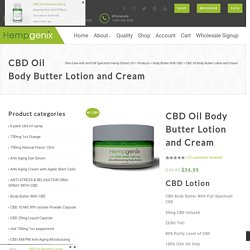 CBD Oil Body Butter Lotion and Cream