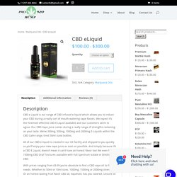 CBD eLiquid - Pro Hemp 420