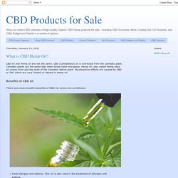 CBD Products for Sale: What is CBD Hemp Oil?