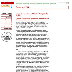 Bayer et l'ONU