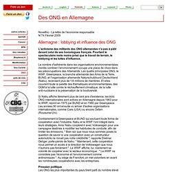 Des ONG en Allemagne