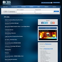 CBS Corporation Jobs - Jobs