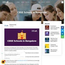 CBSE Schools in Bangalore