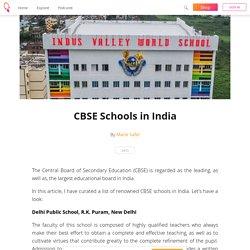 CBSE Schools in India - Marie Safel
