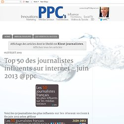 TOP 50 des journalistes influents