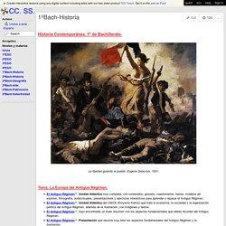 CC. SS. - 1ºBach-Historia