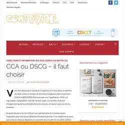 CCA ou DSCG – il faut choisir