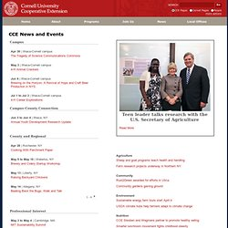 Cornell Coop Extension CCE News and Events