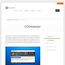 CCEnhancer - SingularLabs