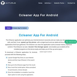 How To Install Ccleaner App For Android?Ccleaner App For Android