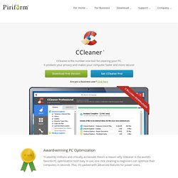 CCleaner - Optimization and Cleaning - Free Download - Nightly