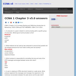 CCNA 1 Chapter 3 v5.0 answers