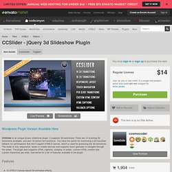 HTML5 - CCSlider - jQuery 3d Slideshow Plugin