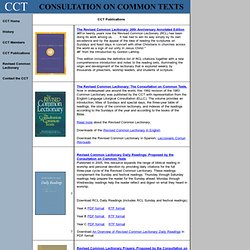 CCT Publications