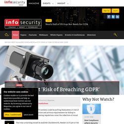 CCTV Users at 'Risk of Breaching GDPR'