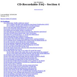 CD-Recordable FAQ - section 4