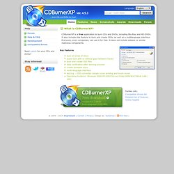 CDBurnerXP: Free CD and DVD burning software
