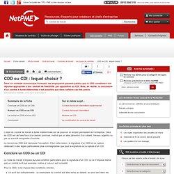 CDD ou CDI : lequel choisir ? - embauche contrat travail