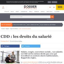 CDD : les droits du salarié
