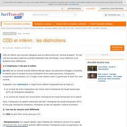 CDD et intérim : les distinctions
