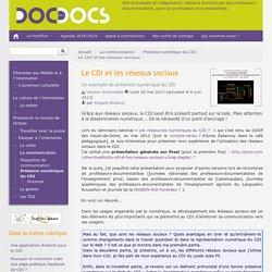 Le CDI et les réseaux sociaux