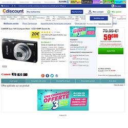 Un Canon Canon Ixus 145 Noir à un tel prix ! C'est sur Cdiscount bien sûr. Achat / Vente appareil photo compact Canon