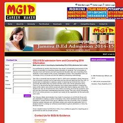 CDLU B.Ed Counseling 2014