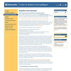CDSP : Enquêtes internationales