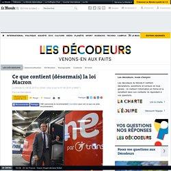 Ce que contient (désormais) la loi Macron