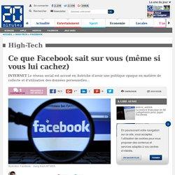 Ce que Facebook sait sur vous (même si vous lui cachez)