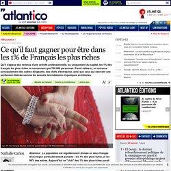 Ce qu'il faut gagner pour être dans les 1% de Français les plus riches