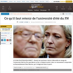 L'université d'été du FN en direct