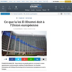 Ce que la loi El Khomri doit à l'Union européenne