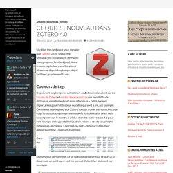 Ce qui est nouveau dans Zotero 4.0
