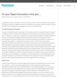 Ce que l'open innovation n'est pas ...