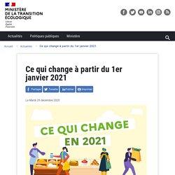Ce qui change à partir de 2021