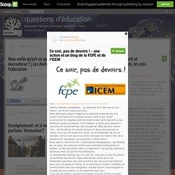 Ce soir, pas de devoirs ! - une action et un blog de la FCPE et de l'ICEM