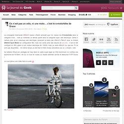 Ce n'est pas un vélo, ni une moto… c'est le e-motorbike de Grace