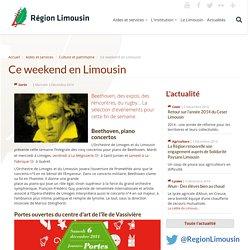 Ce weekend en Limousin