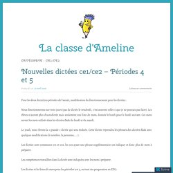 CE1/CE2 – La classe d'Ameline