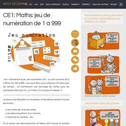 CE1: Maths: jeu de numération de 1 à 999