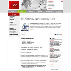 Le CEA - Crise nucléaire au Japon : questions / réponses