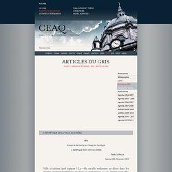 Articles du GRIS