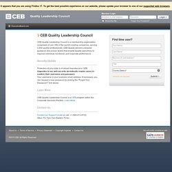 CEB Quality Leadership Council
