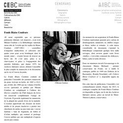 CEBC – AIBC » Fonds Blaise Cendrars
